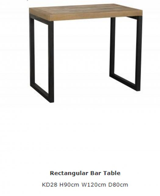 Baker Furniture Baker Furniture Nixon Rectangular Bar Table