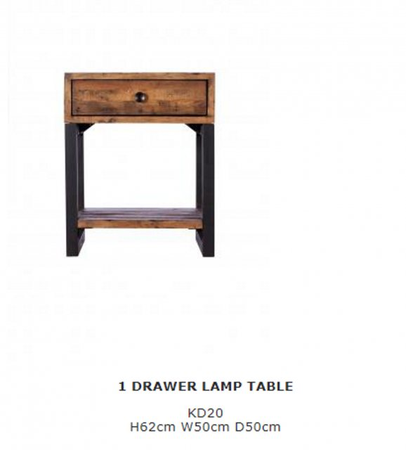 Baker Furniture Baker Furniture Nixon 1 Drawer Lamp Table