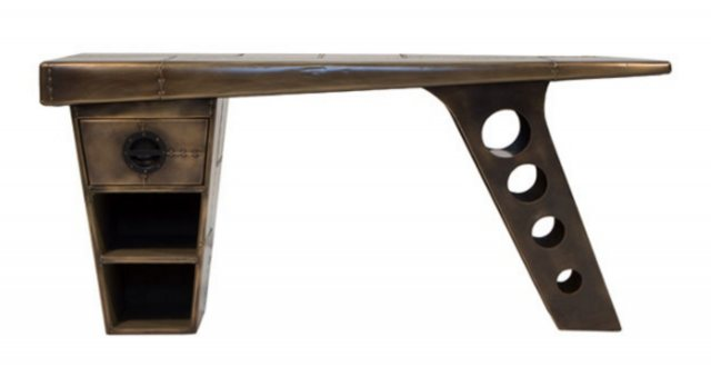Carlton Carlton Furniture Aviator Half Wing Desk