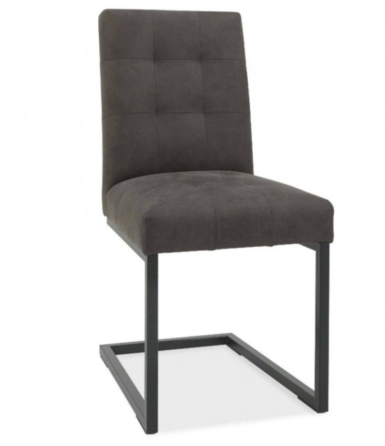Bentley Designs Bentley Designs Indus Rustic Oak Upholstered Cantilever Chair